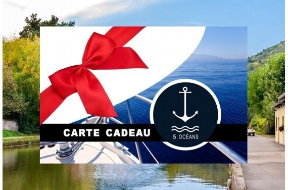 Permis fluvial - Carte cadeau à imprimer 250€ (Au lieu de 350€, Promo du mois de septembre jusqu'au 30/09)